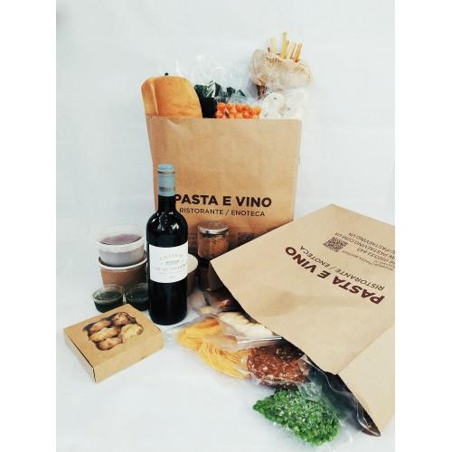 BOX м'ясний + вино Cap de Faugeres 2013 (попереднє замовлення за 2 години)