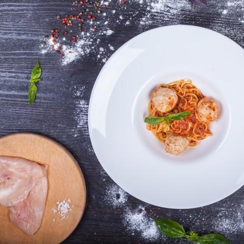 Спагеті з курячими пальпетте
